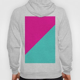 Modern abstract neon pink teal geometric Hoody