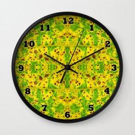 Macro Leaf no 7 Wall Clock