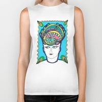 headdress Biker Tanks featuring Headdress by G.L.BEANS