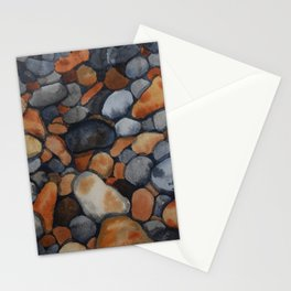 Pebbles on the shore Stationery Cards