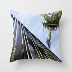 Palm Trees and Chrome Throw Pillow
