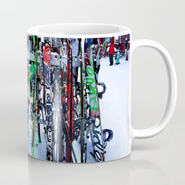 Ski Party - Skis and Poles Coffee Mug