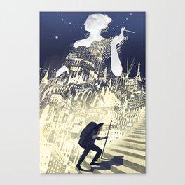 Europa & The Traveller Canvas Print