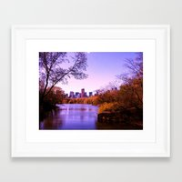 central park Framed Art Prints featuring Central Park by Anna Andretta