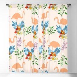 Flamingo Garden #floral #pattern #society6 Blackout Curtain