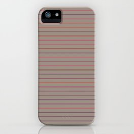 Line pattern 2 - Red , purple , pink and green iPhone Case