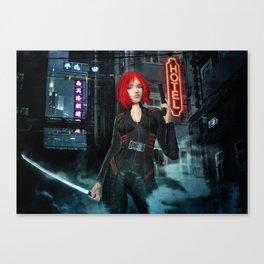The Scarlett Assassin Canvas Print