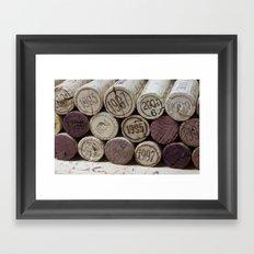 Vintage Wine Corks Framed Art Print