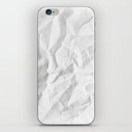 WRINKLED WHITE PAPER SHEET iPhone Skin
