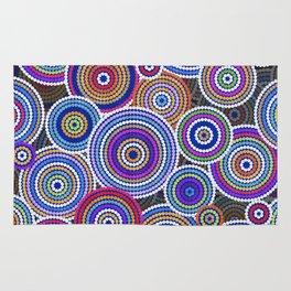 Colorfull Aboriginal Dot Art Pattern Rug