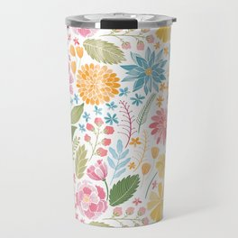 Such Pretty Summer Flowers Travel Mug