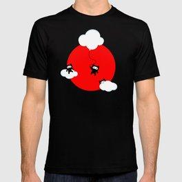 Ninja cats in the sky (Japanese edition) T-shirt
