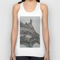 eiffel Tank Tops featuring Eiffel by Esteban Garza
