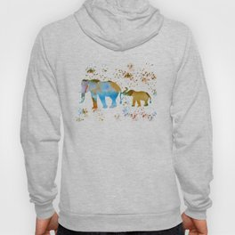 Elephant and baby elephant Hoody