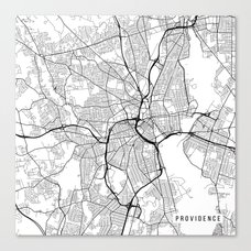 Budapest Map Hungary Black and White Canvas Print by