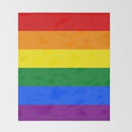 Pride rainbow flag Throw Blanket