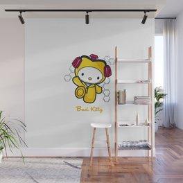 Hello Bad Kitty Wall Mural