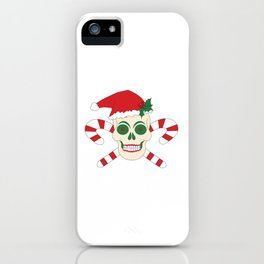 Creepy Christmas Santa Skull iPhone Case