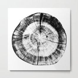 Black and White Wood Grain Metal Print