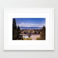 portland Framed Art Prints featuring PORTLAND by Pitter Patterns