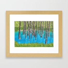 Reflection of Trees Framed Art Print