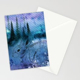 Woodland Bunny - Mixed Media - Watercolor Stationery Cards