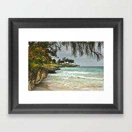 Barbados Beach Framed Art Print
