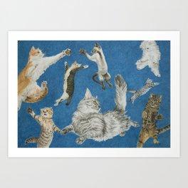 Cat Art - 'Dance the Way I Feel' Art Print