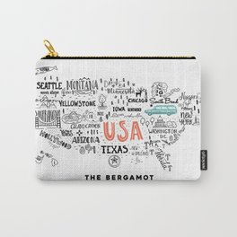 The Bergamot & The Unity Collective USA Official Logo Carry-All Pouch