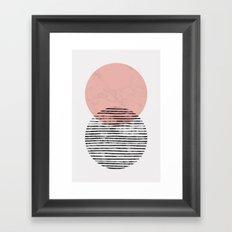 Mid Century art duo Framed Art Print