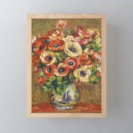 """Auguste Renoir """"Anémones dans un vase"""" Framed Mini Art Print"""