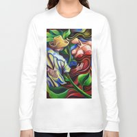dancing Long Sleeve T-shirts featuring Dancing by miguezart