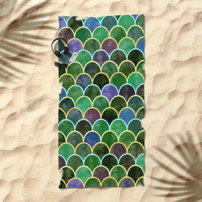 Watercolor Lovely Pattern VVII Beach Towel