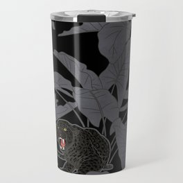 Black Panthers on Black. Travel Mug
