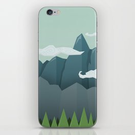 Mountains & Clouds iPhone Skin