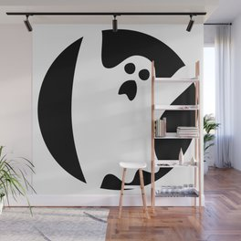 ghosty black Wall Mural