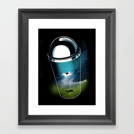 Encounters of the Dairy Kind Framed Art Print