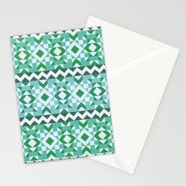 Tribal Navajo Pattern - Teal Turquoise Stationery Cards