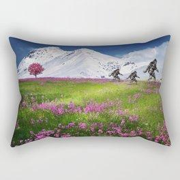 Bigfoot Mountain Meadow Rectangular Pillow