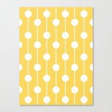 Yellow Lined Polka Dot Canvas Print