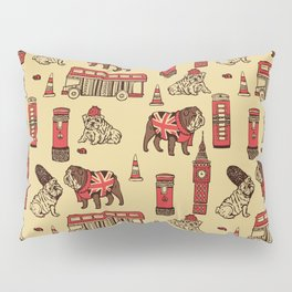 London English Bulldog Pillow Sham