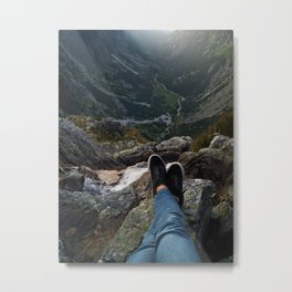 Point of view Mountaintrail Metal Print
