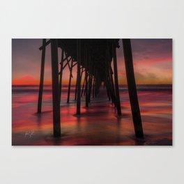 Water on Fire Kure Beach Sunrise Canvas Print