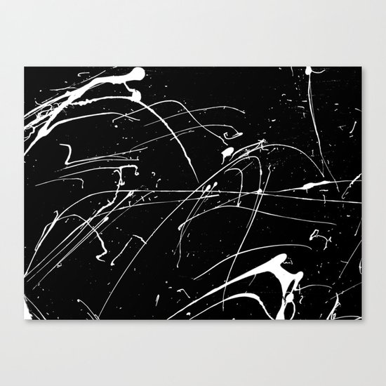 MONOCHROME SPLATTER #2 Canvas Print