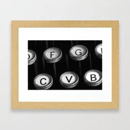 typewriter keys Framed Art Print