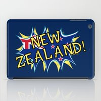 new zealand iPad Cases featuring  New Zealand  by mailboxdisco