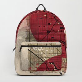 chicago map japanese style Backpack