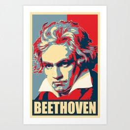 Beethoven Propaganda Poster Pop Art Art Print