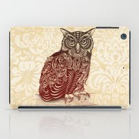 ornate iPad Cases featuring Most Ornate Owl by Rachel Caldwell