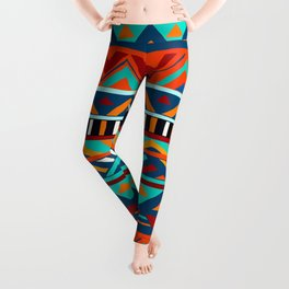 Affrican pattern, abstract geometric pattern Leggings